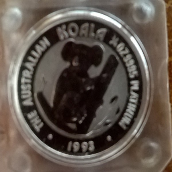 1/4 unze Platin Australien Koala 1993 25 Dollars