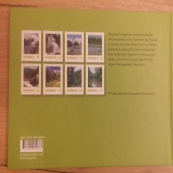 Briefmarkenbuch Nationalparks in Österreich mit 8 exklusiven Marken