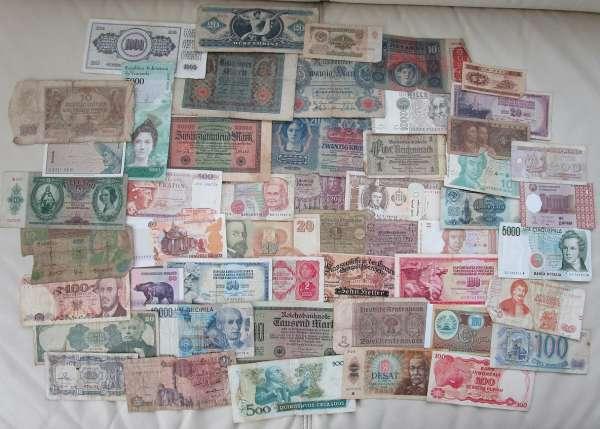 GELDSCHEINE Banknoten WELT 50 Stück gebraucht Lot 28032021/4