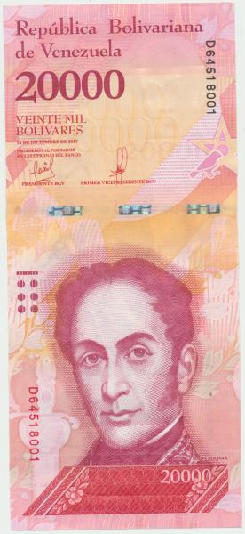 Venezuela – 20000 Bolivares 13.12.2017, (P.99b) Erh. UNC
