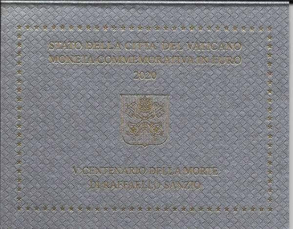 2 Euro Vatikan 2020 500 Todestag Raffaello Sanzio