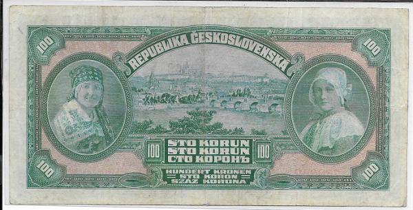 100 Korun 14.1.1920 Serie Ar Nr.240843