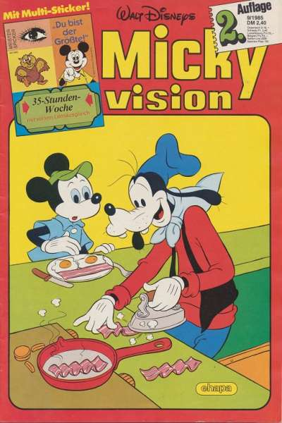 Mickyvision 2.Auflage Heft Nr. 9/1985