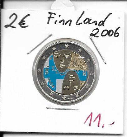 2 Euro Finnland 2006 100 Jahre Wahlrecht Coloriert