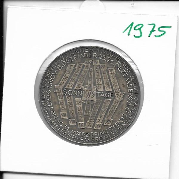 1975 Kalendermedaille Jahresregent Bronze versilbert