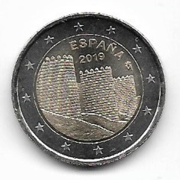 2 Euro Spanien 2019 Unesco Avila