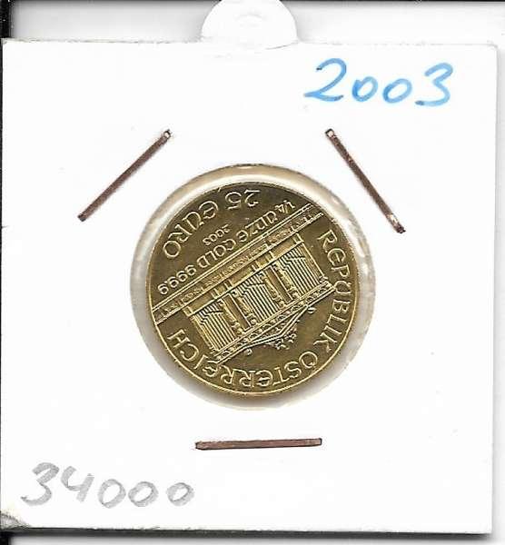 2003 Philharmoniker 1/4 Unze 25 € Euro 7,78 Gramm