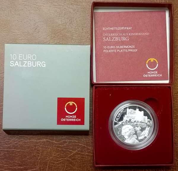 10 Euro Silber 2014 Salzburg PP ANK Nr. 25