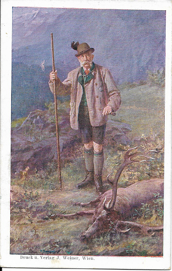 Kaiser Franz Josef Internationale Jagd Ausstellung Wien 1910 Offizielle Postkarte