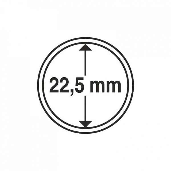 MÜNZKAPSELN CAPS 22,5 MM, 10 ER PACK