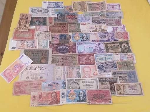 GELDSCHEINE Banknoten WELT 50 Stück gebraucht Lot 12200