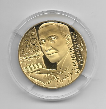 20 EURO Silber 2013 Stefan Zweig Schachnovelle 24 Karat Vergoldet