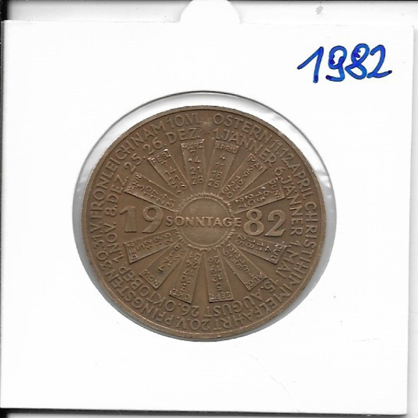 1982 Kalendermedaille Jahresregent Bronze