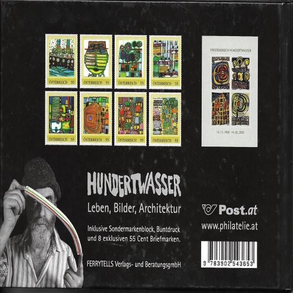 Briefmarkenbuch Hundertwasser I mit Buntdruck und 8 exklusiven 55 Cent Marken