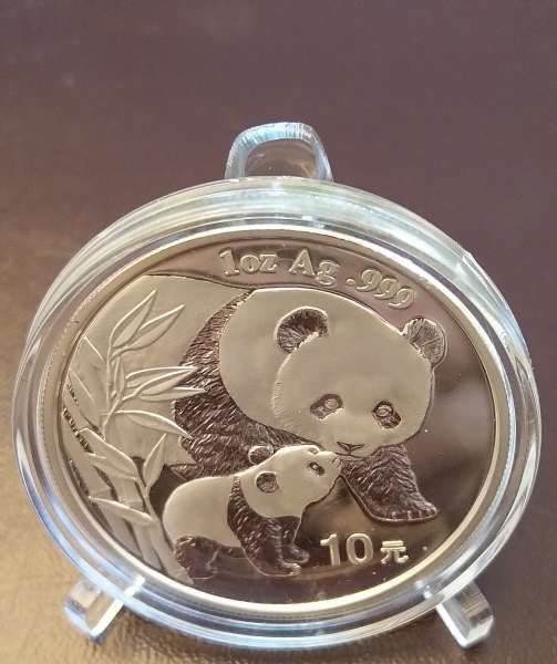 China 10 Yuan 2004 Panda 31,1g 1 Oz Silber Unze