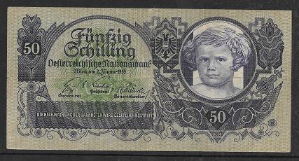 50 Schilling 2 Jänner 1935 Ank.Nr.223 Nr. 1013 99775