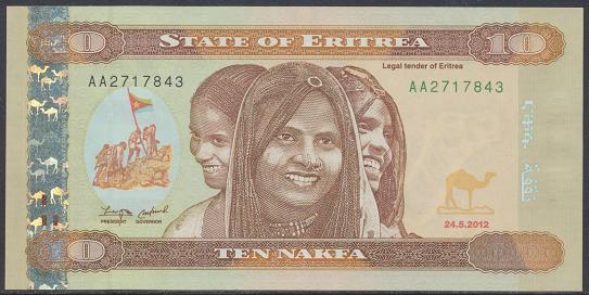 Eritrea - 10 Nakfa 2012 UNC - Pick 11
