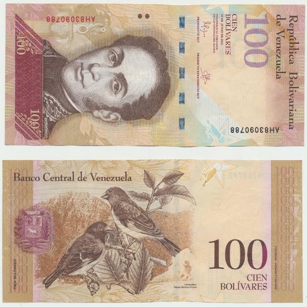 Venezuela – 100 Bolivares 23.06.2015, (P.) Erh. UNC