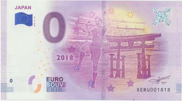 0 Euro Schein 2018-8-JP Fußball-WM 2018 Teilnehmer Japan- Unc