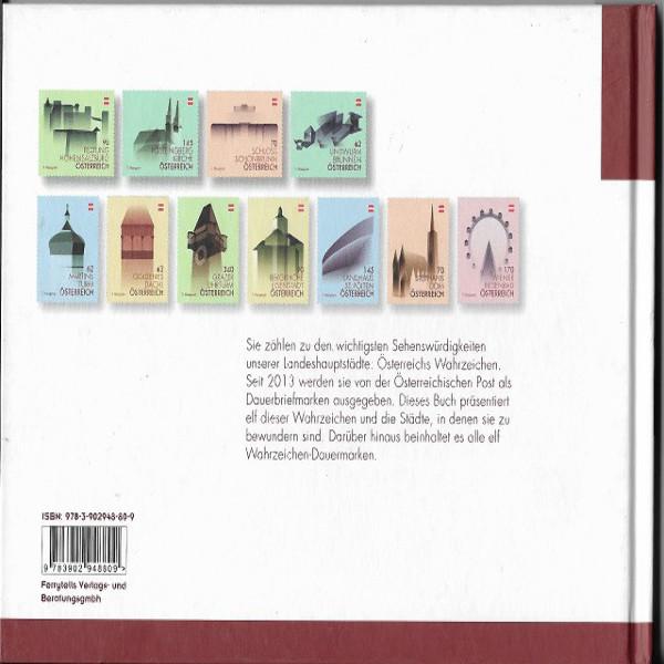 Briefmarkenbuch Österreichs Wahrzeichen mit 11 Briefmarken