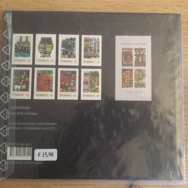 Briefmarkenbuch Hundertwasser II mit Buntdruck und 8 exklusiven 65 Cent Marken
