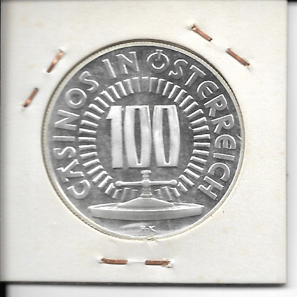 Casino Jeton 100 Schilling Fussball WM 1978 Silber