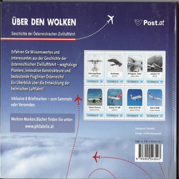 Briefmarkenbuch Über den Wolken inklusive 8 Marken