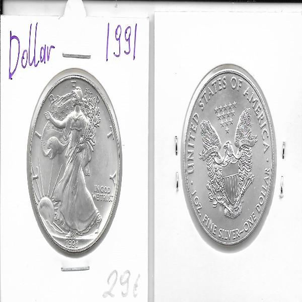 1 Dollar Silber Eagle Unze 1991
