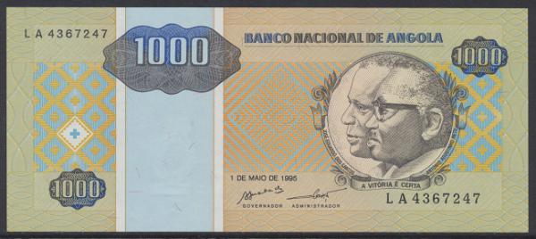 Angola - 1000 Kwanzas 1995 UNC - Pick 135