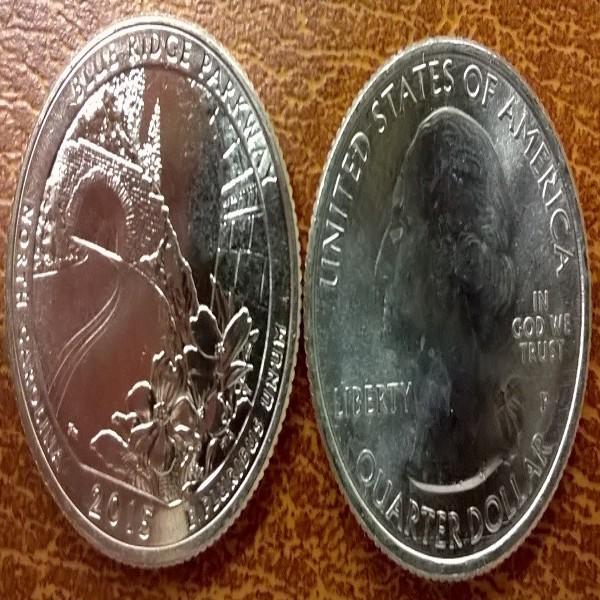 USA 25 Cent 2015 P Blue Ridge Parkway (28)