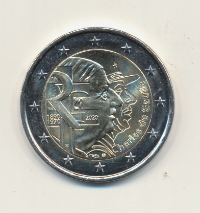 2 Euro Frankreich 2020 Charles de Gaulle