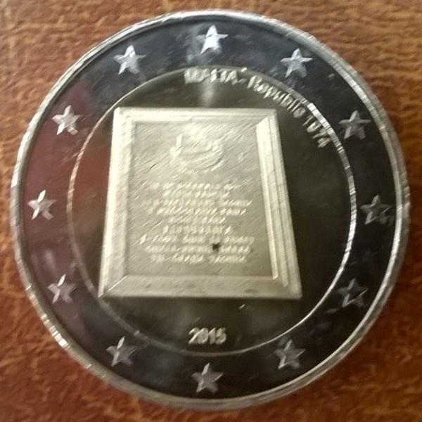 2 Euro Malta 2015 Republik 1974