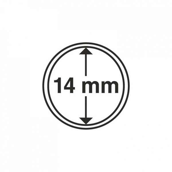 MÜNZKAPSELN CAPS 14 MM, 10 ER PACK