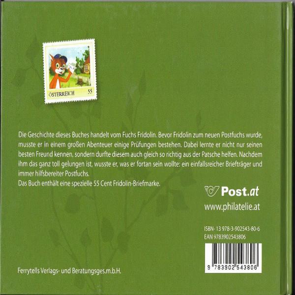 Briefmarkenbuch Wie Fridolin zum Postfuchs wurde mit 1 speziellen 55 Cent Fridolin Marke