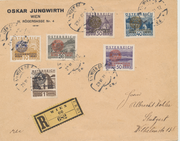 Intern. Rotary Kongreß 29.6.1931 Reco
