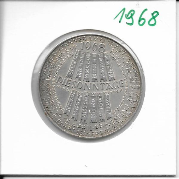 1968 Kalendermedaille Jahresregent Bronze versilbert