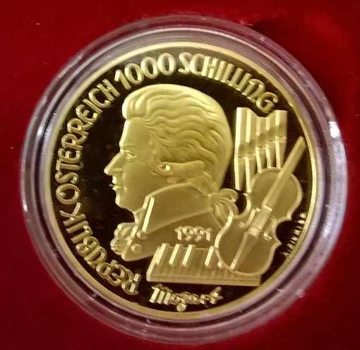 Wir kaufen an 1000 Schilling Gold