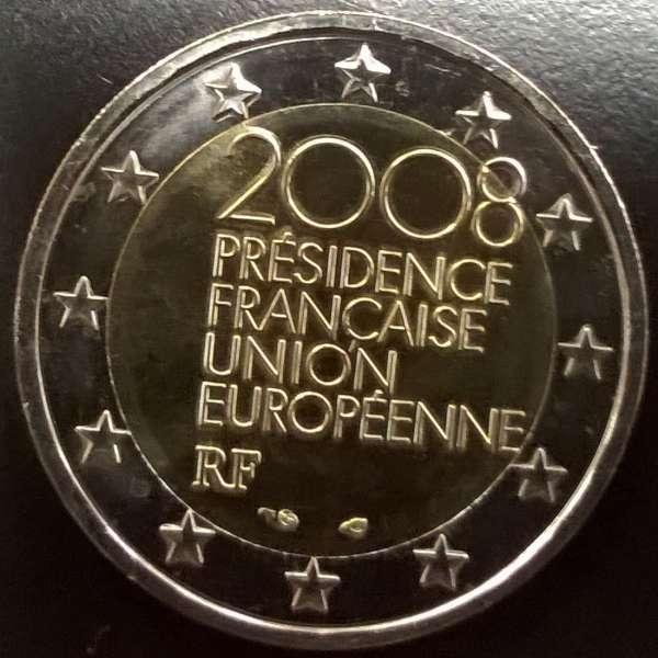 2 Euro Frankreich EU-Präsidentschaft 2008