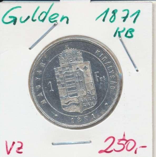 1 Gulden Forint 1871 KB Silber Franz Joseph