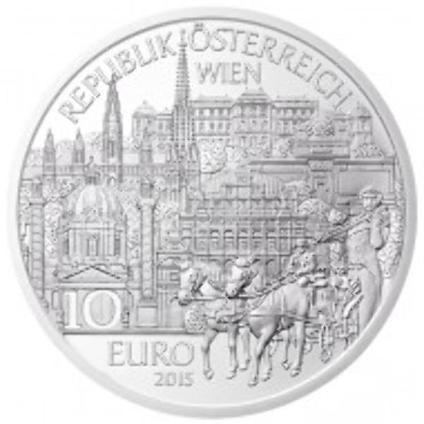 10 Euro Silber 2015 Wien PP ANK Nr. 27