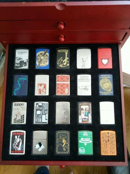 Original Zippo Collection Sturmfeuerzeug Nr.1 bis Nr.80 Zippo Logos Sammlung OVP