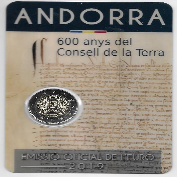 2 Euro Andorra 2019 600 Jahre Parlament