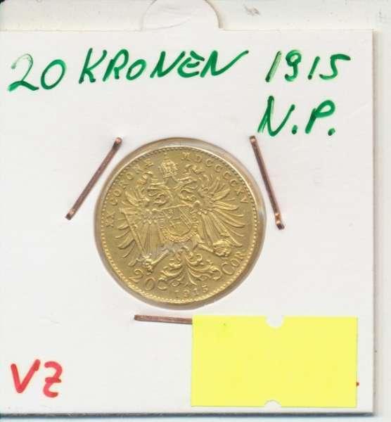 20 Kronen 1915 Franz Joseph I Neuprägung