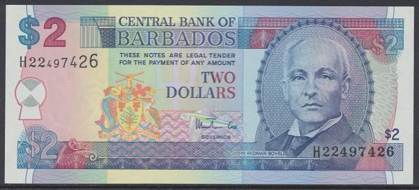 Barbados - 2 Dollars 2000 UNC - Pick 60