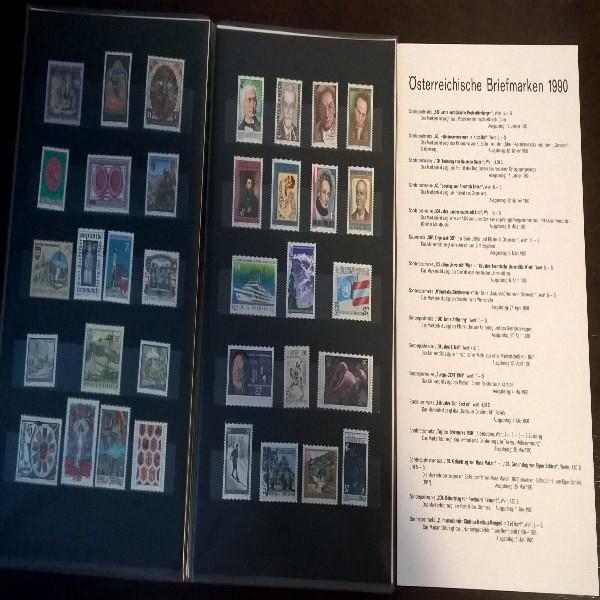 Jahreszusammenstellung der Post 1990