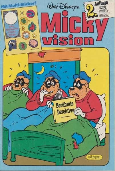 Mickyvision 2.Auflage Heft Nr. 2/1986