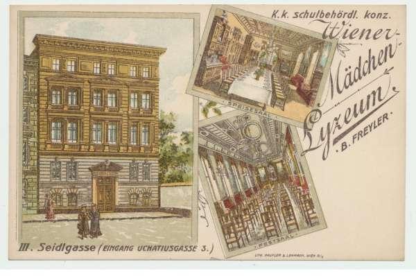 Wiener Mädchen Lyzeum Wien III Seidlgasse
