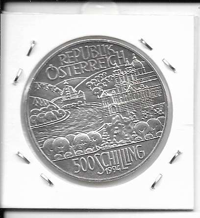 ANK Nr. 46 Flußregion 1994 500 Schilling Silber Normal