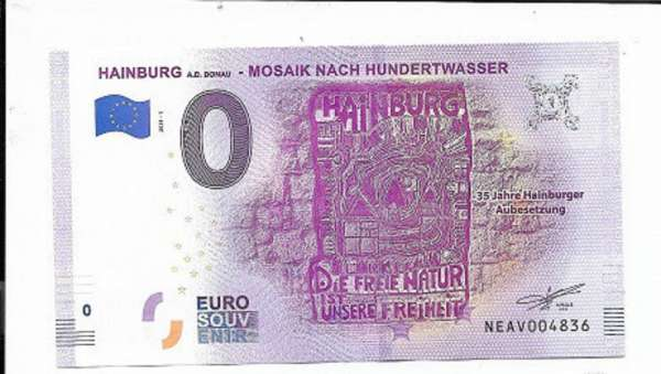 ANK.Nr.32 Hainburger Aubesetzung Hundertwasser Unc 0 Euro Schein 2019-1
