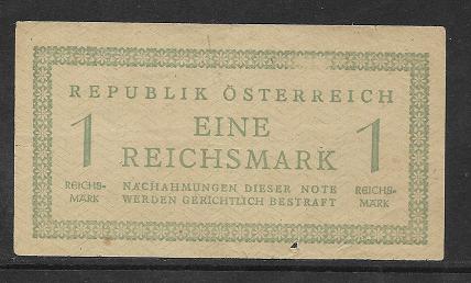 1 Reichsmark 1945 Ank 250 Pick 113 Russische Zone